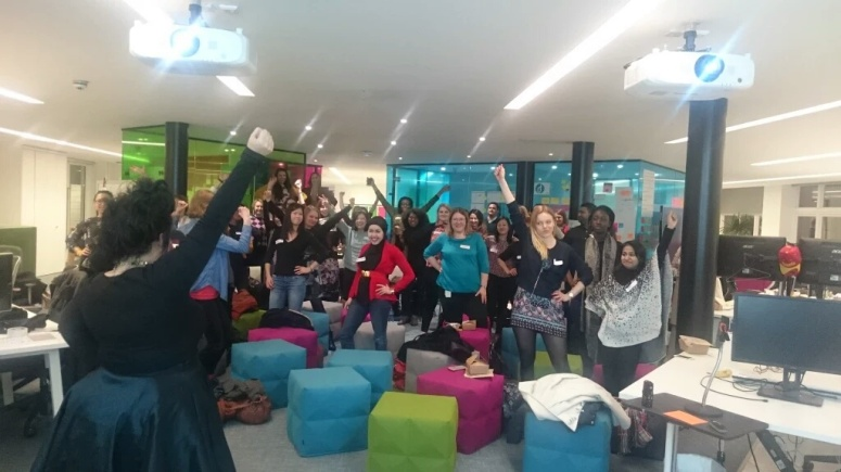 Our Power pose at ThoughtWorks london